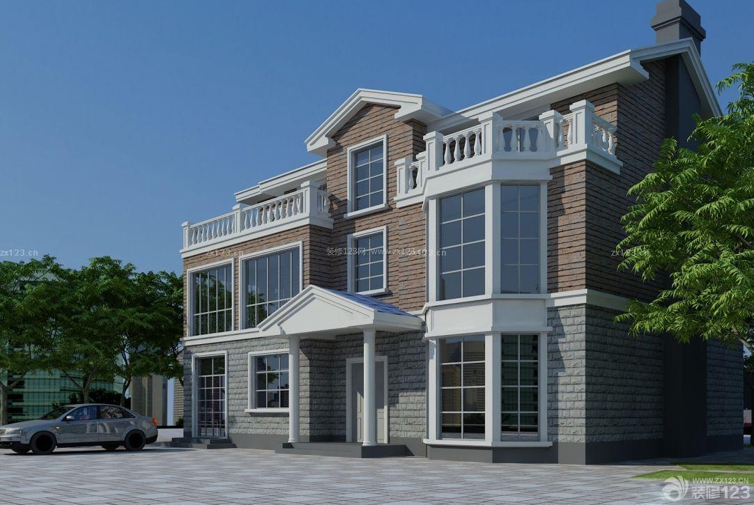 最新二层半农村小洋房外观设计图片