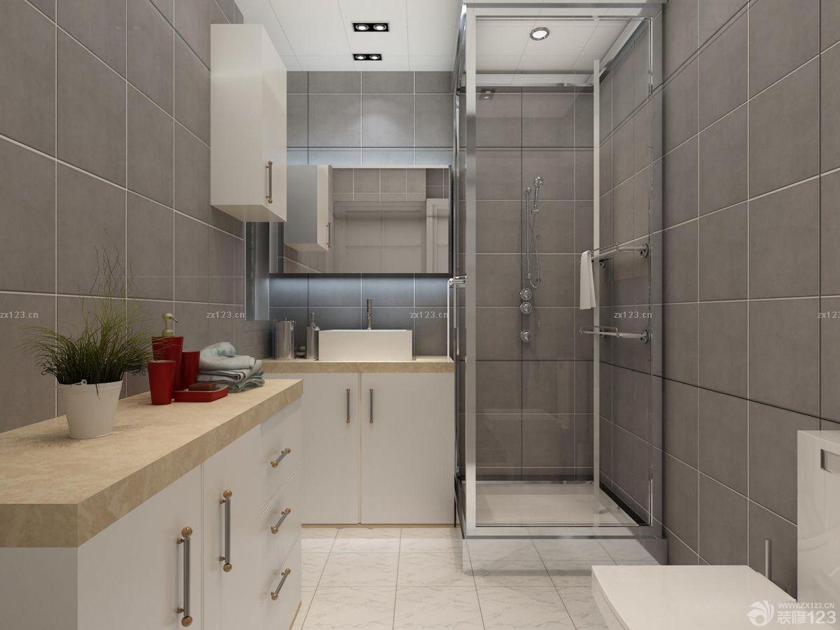 95平米房子卫生间毛巾架装修实景图