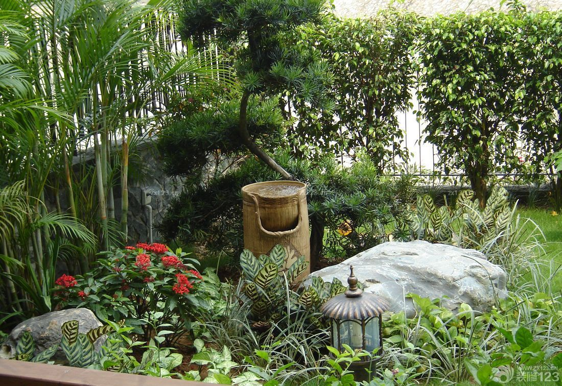 园林景观水池喷泉设计图片