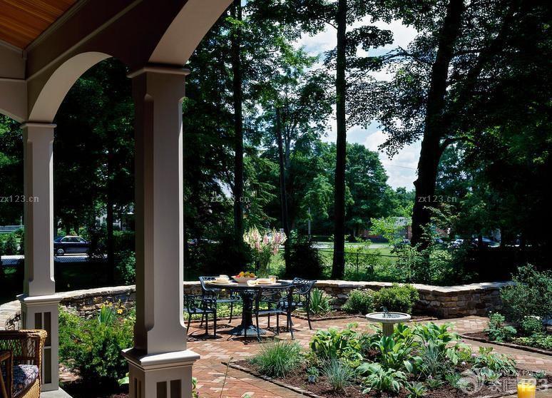 美式别墅室外园林景观设计图片图片