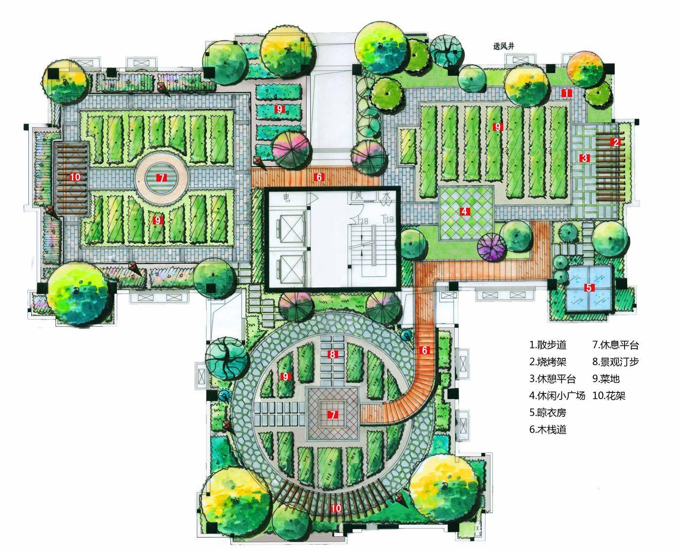 2015屋顶花园平面图片