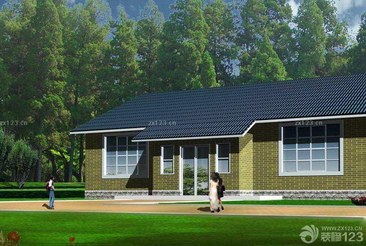 新农村一层别墅平面设计图_装修123效果图
