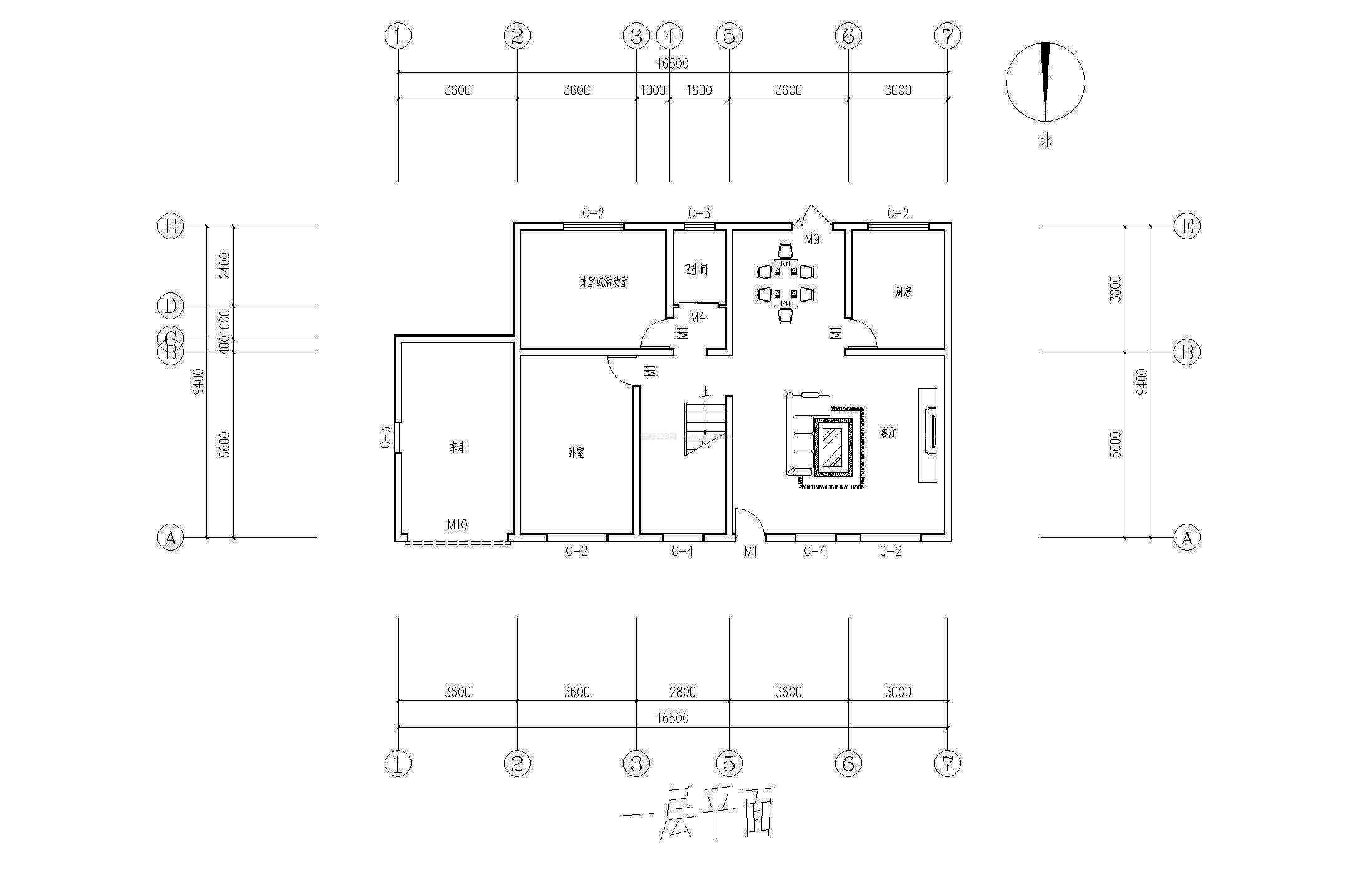 北方农村房屋首层设计图