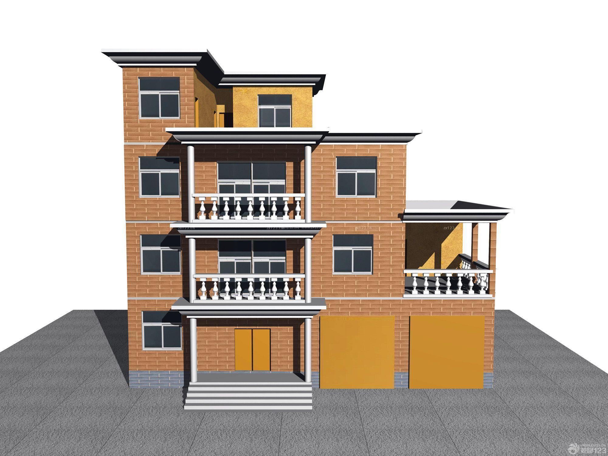 欧式北方农村房屋外观设计图