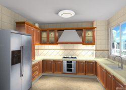 2015廚房原木櫥柜設計圖片
