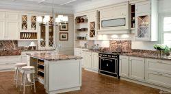 家庭廚房原木櫥柜設計圖片