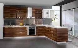 家庭廚房原木櫥柜設計圖