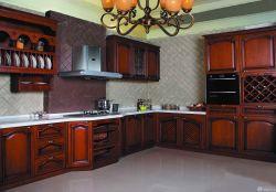 廚房原木懸空櫥柜設計圖