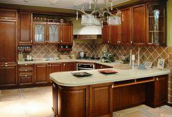 廚房原木櫥柜設計圖片