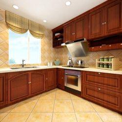 整體廚房原木櫥柜設計圖