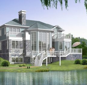北方農村房屋美式別墅設計圖-每日推薦