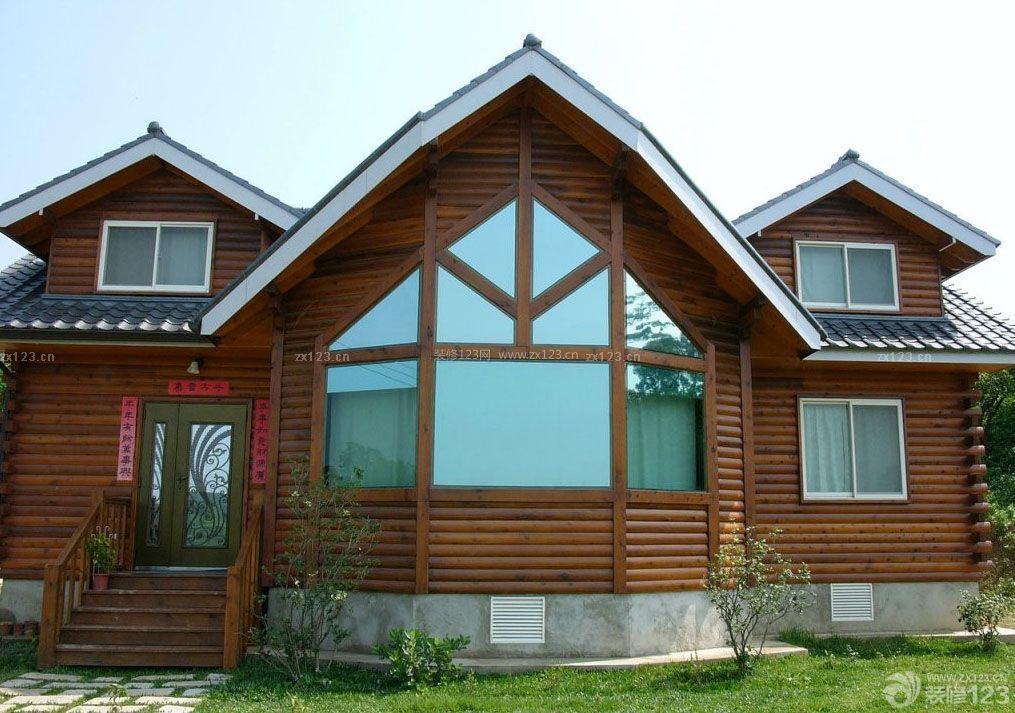 2015现代简约风格木结构别墅设计图