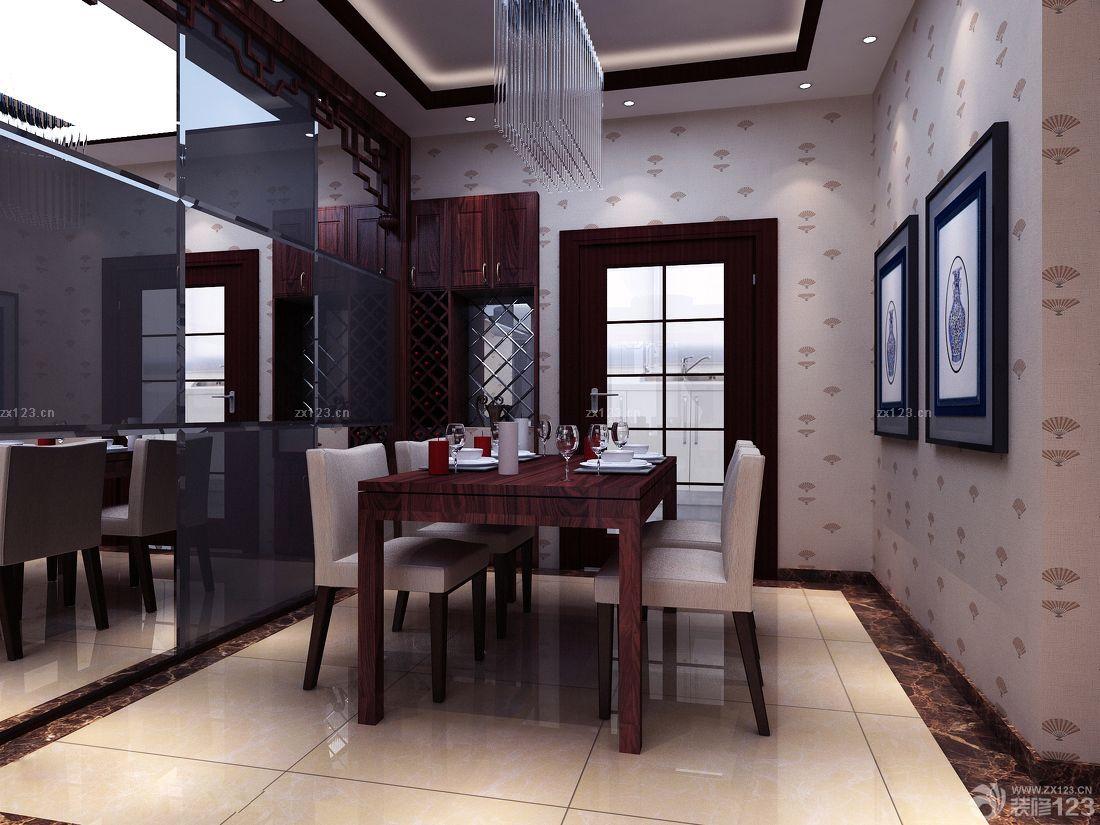 现代中式家装玻璃幕墙设计效果图片_装修123效果图