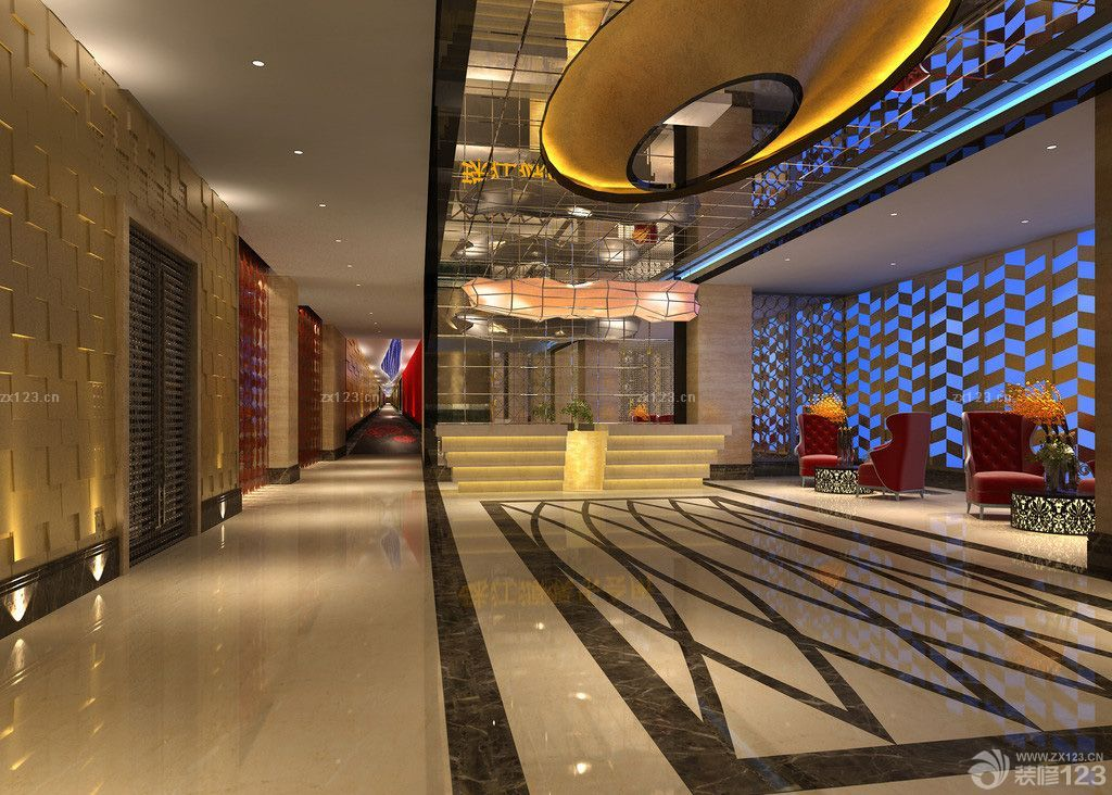 娛樂會所大廳吊頂設計效果圖