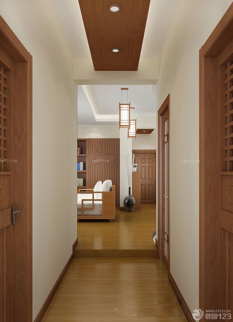 家装东南亚风格过道吊顶设计图片大全