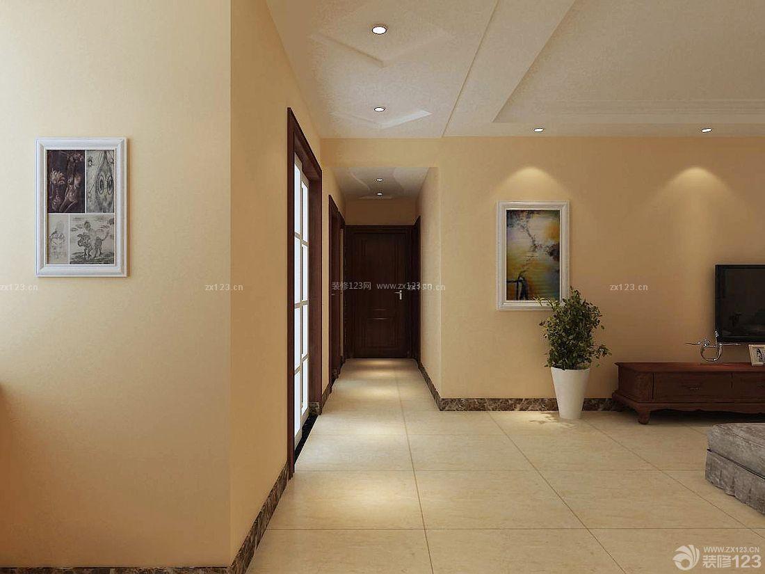 家装95平房屋过道吊顶设计图_装修123效果图