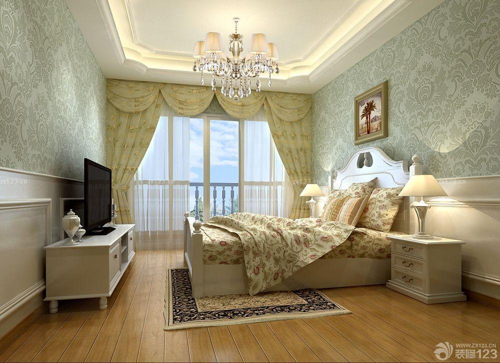 2015 客厅地面白色地砖装修案例_装修123效果图