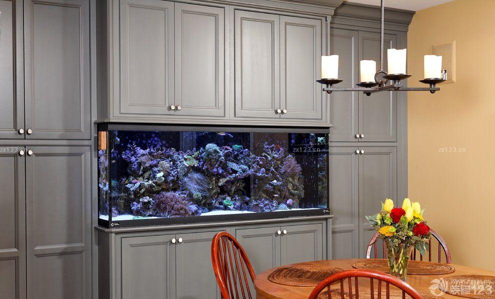 豪华别墅室内壁挂式鱼缸