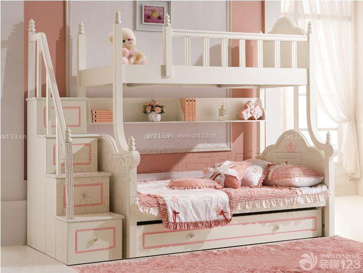 混搭风格卧室母子高低床装修设计图