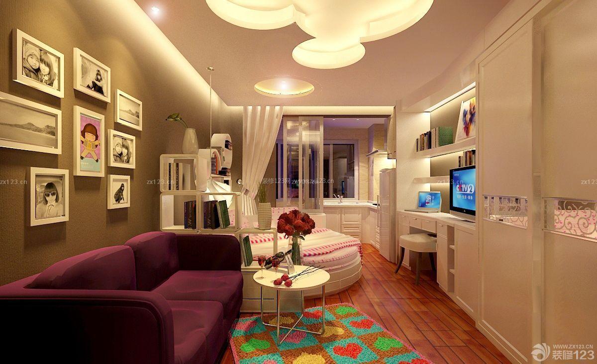 50平方单身公寓灰色墙面设计图