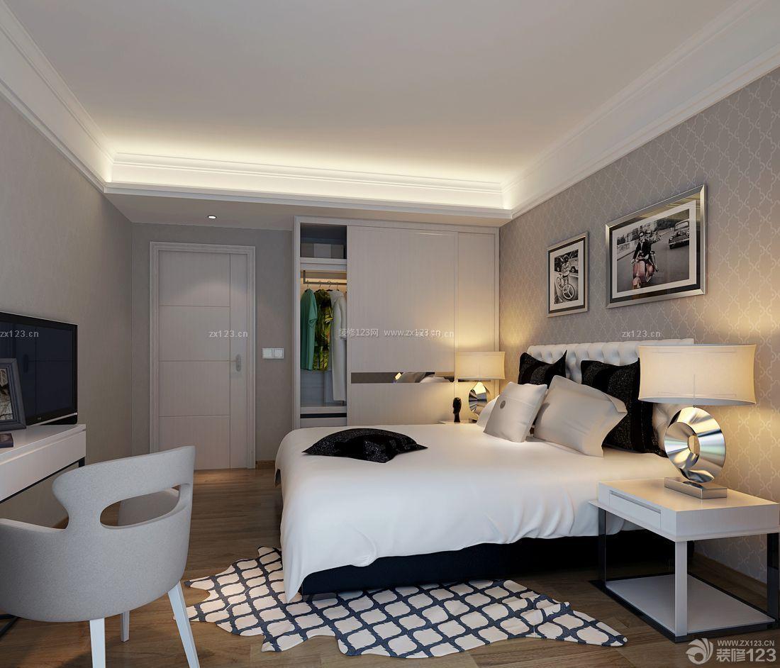 长方形卧室二门衣柜设计效果图图片