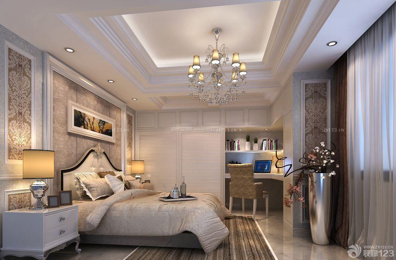 长方形卧室二门衣柜装修案例图片
