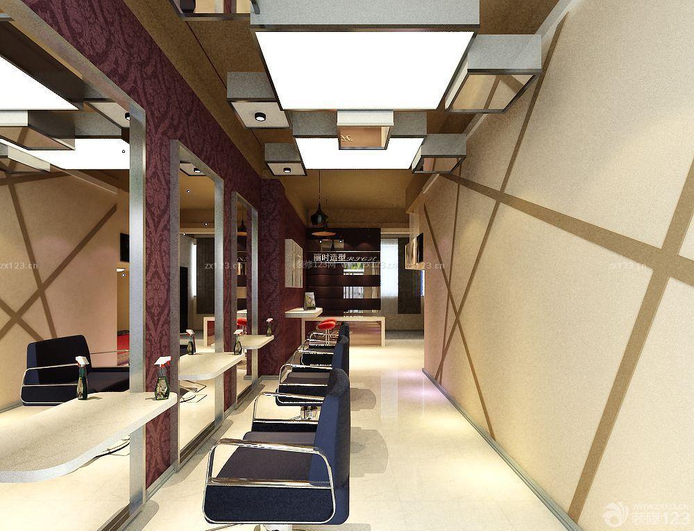 发廊室内吊顶装修设计效果图片