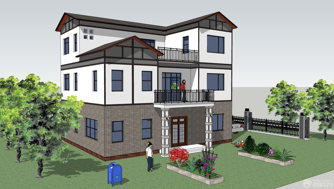 古典风格新农村房屋设计图