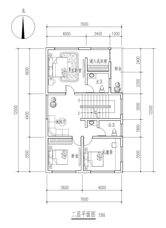 10万以内农村房屋80平方平面设计图纸展示