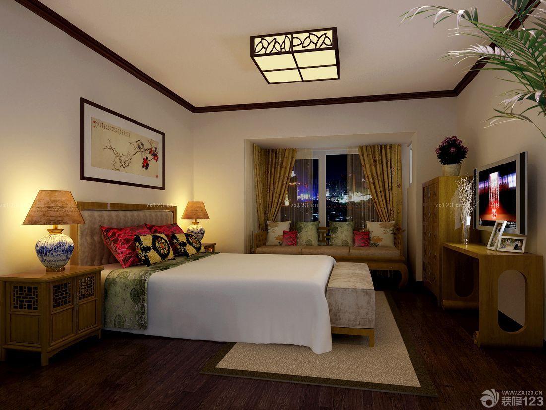 家装效果图 中式 新中式风格卧室窗台板设计效果图 提供者:   ←