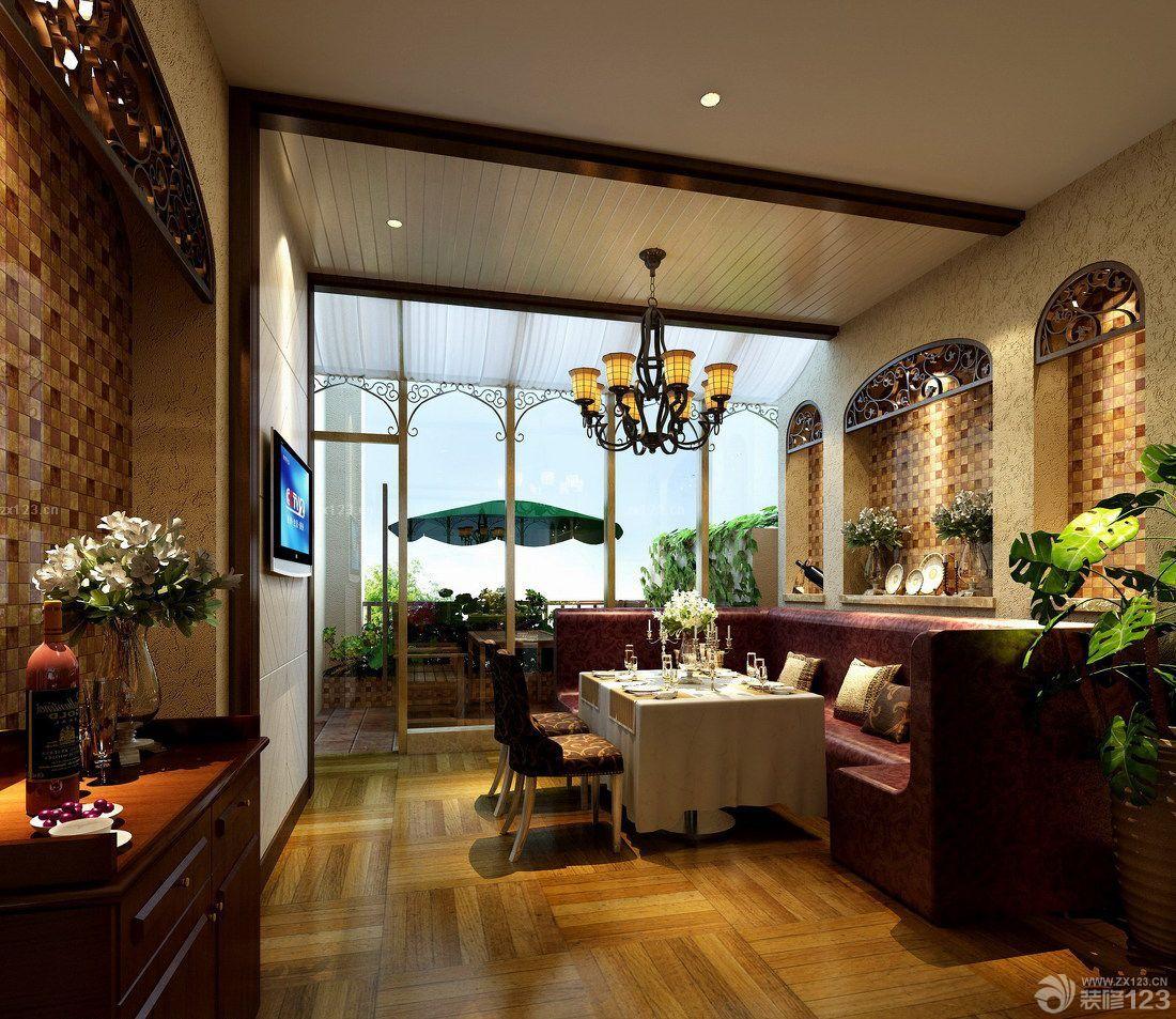 简欧风格咖啡厅沙发设计图片