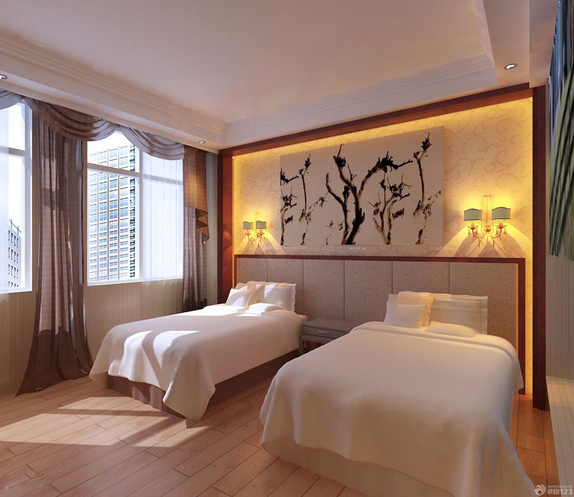 旅馆房间背景墙设计效果图