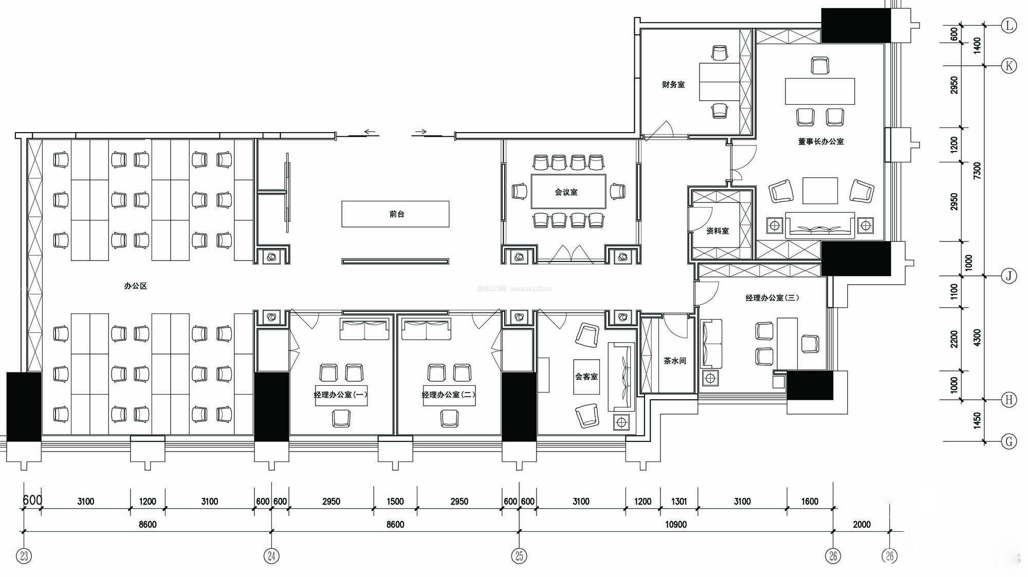 家装效果图 装修办公楼平面图大全 提供者