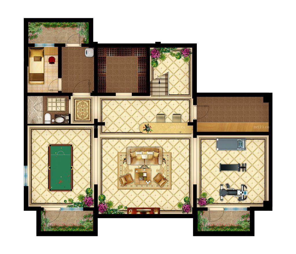 最新195平米新农村别墅户型图