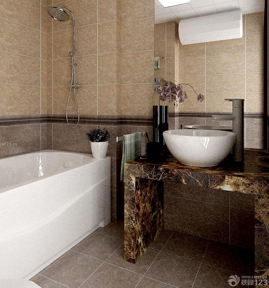 灰色大理石台面洗手池设计图