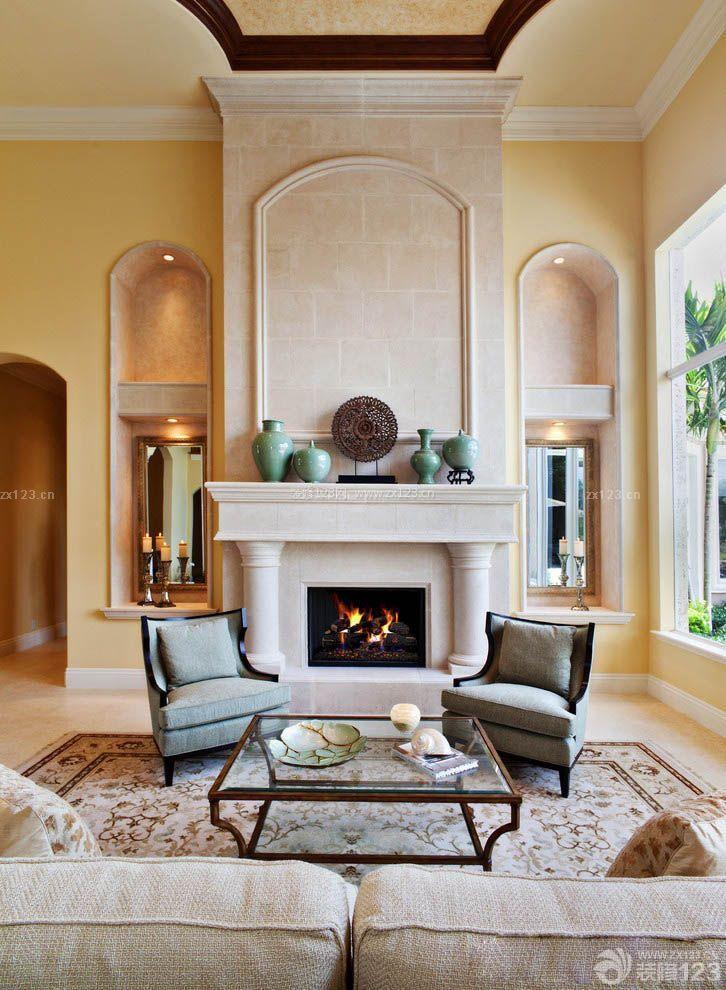 美式混搭风格欧式壁炉装修案例