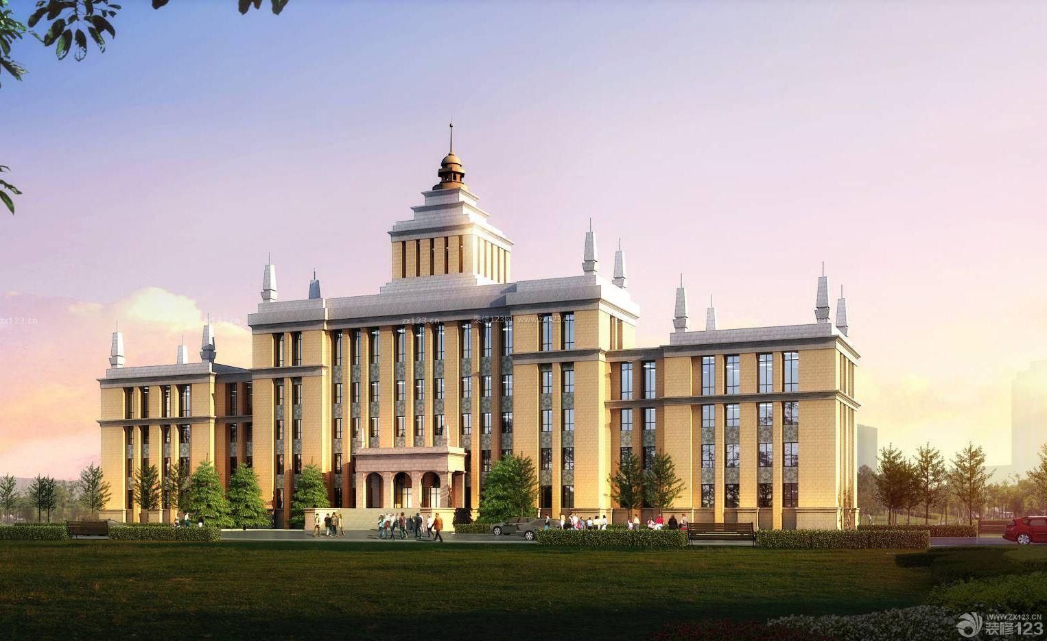 欧式风格办公楼外观设计图