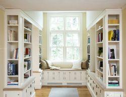 簡歐風格書房飄窗沙發設計圖