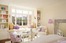 歐式風格臥室飄窗沙發設計圖