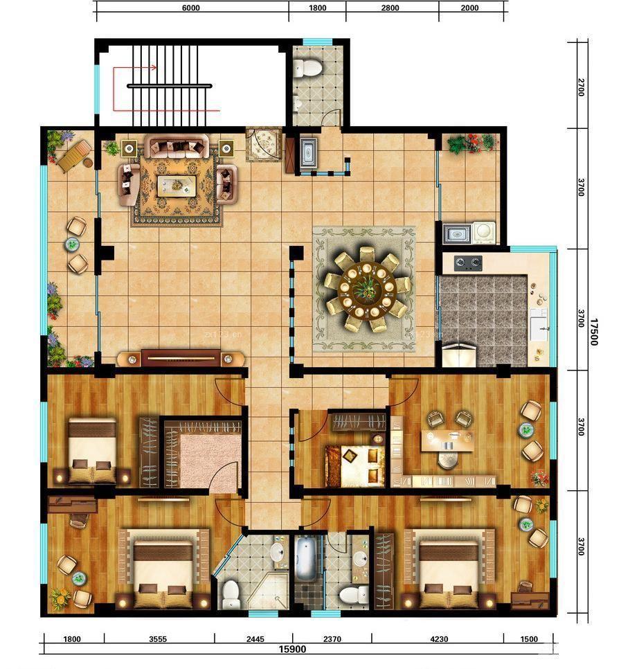 2015新中式风格房屋平面图大全