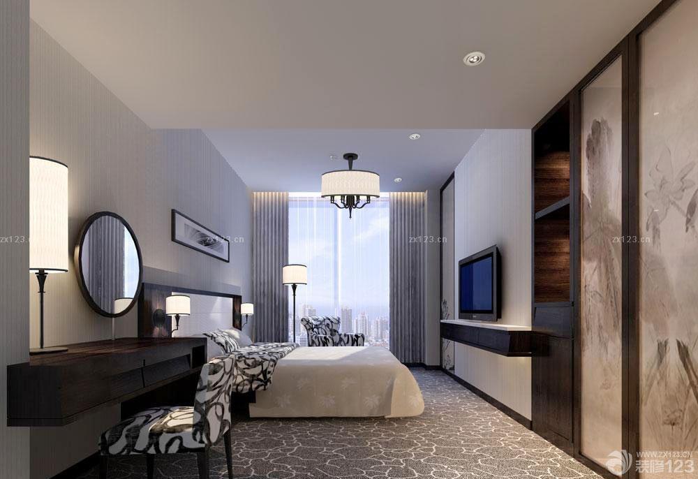 现代风格快捷酒店客房装修设计图