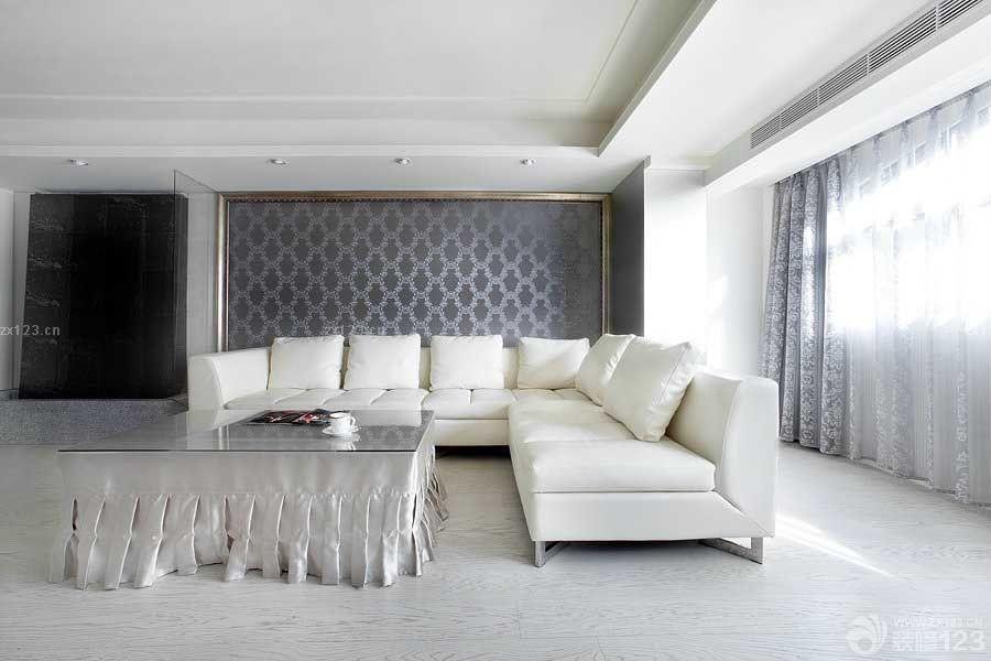 经典现代卧室浅灰色木地板装修图片大全