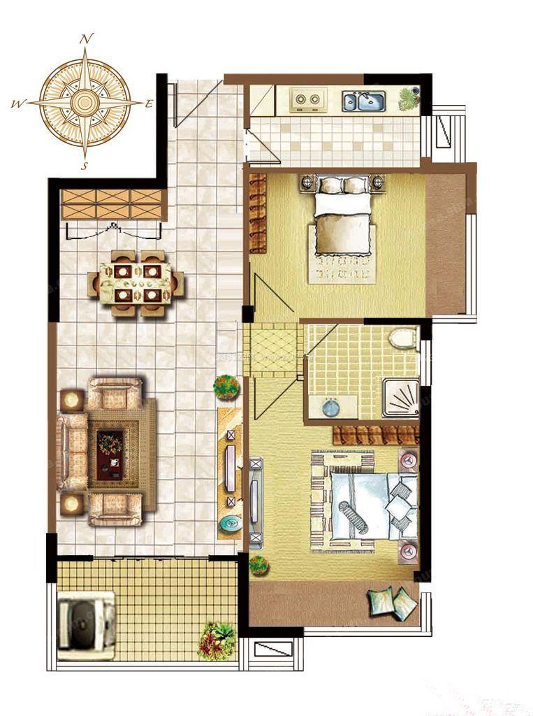 房屋小户型平面图