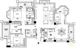 賓館套房平面設計圖