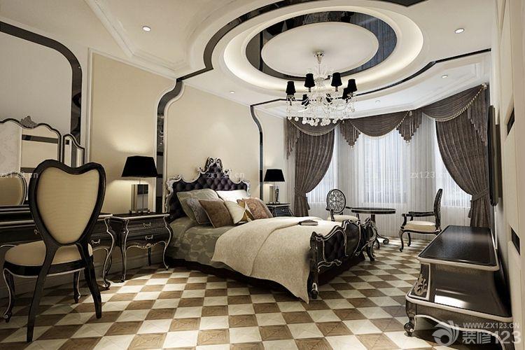 主卧室圆形吊顶设计图