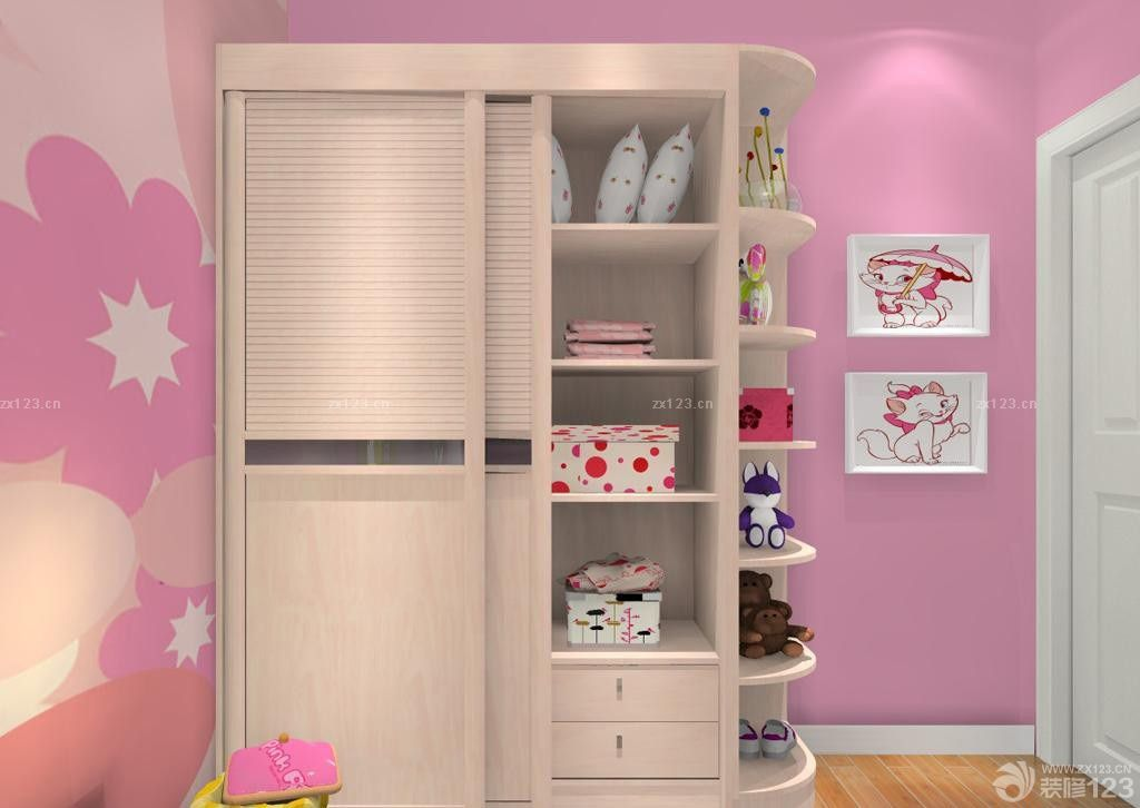 女生卧室衣柜格局设计效果图