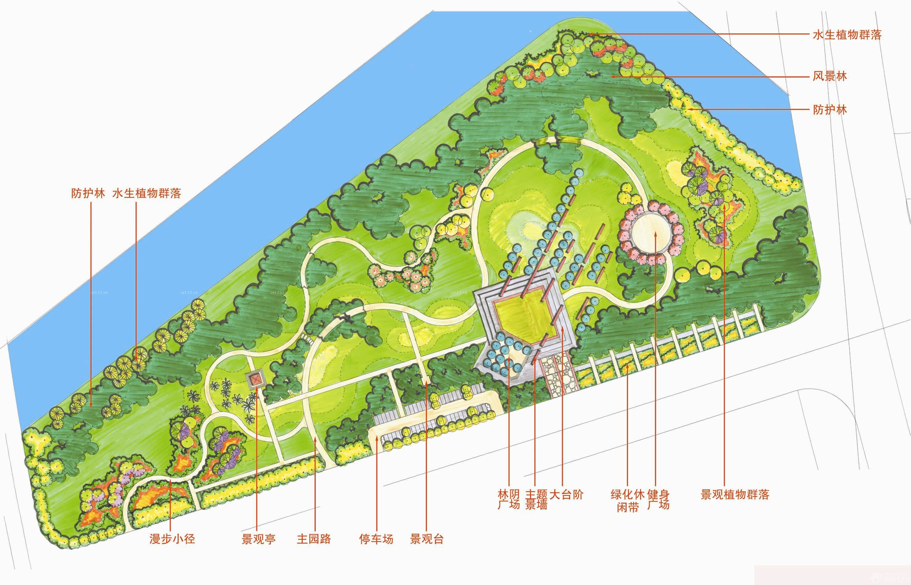 小型园林景观平面设计图展示