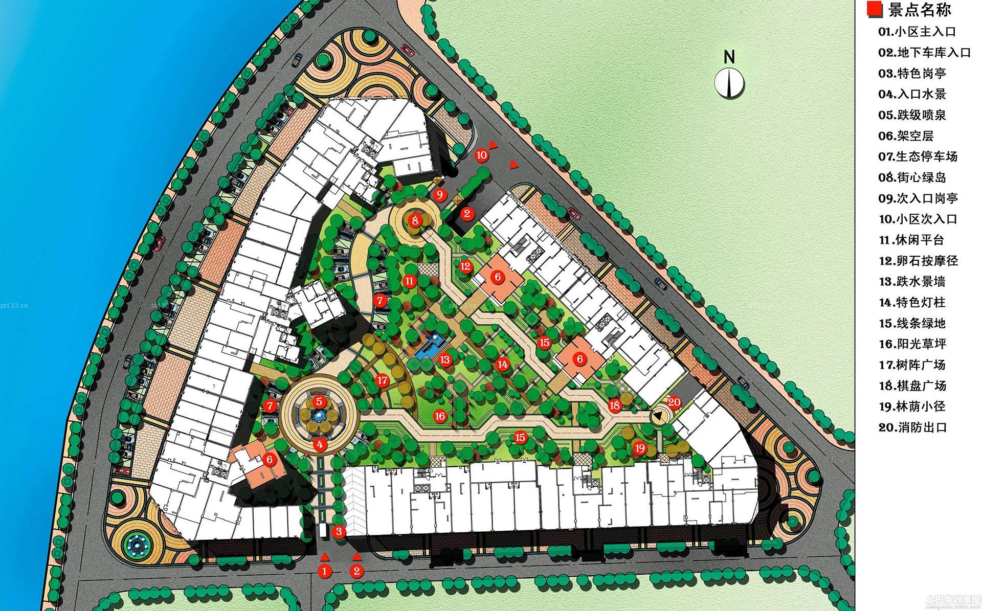 最新游乐园景观平面图设计