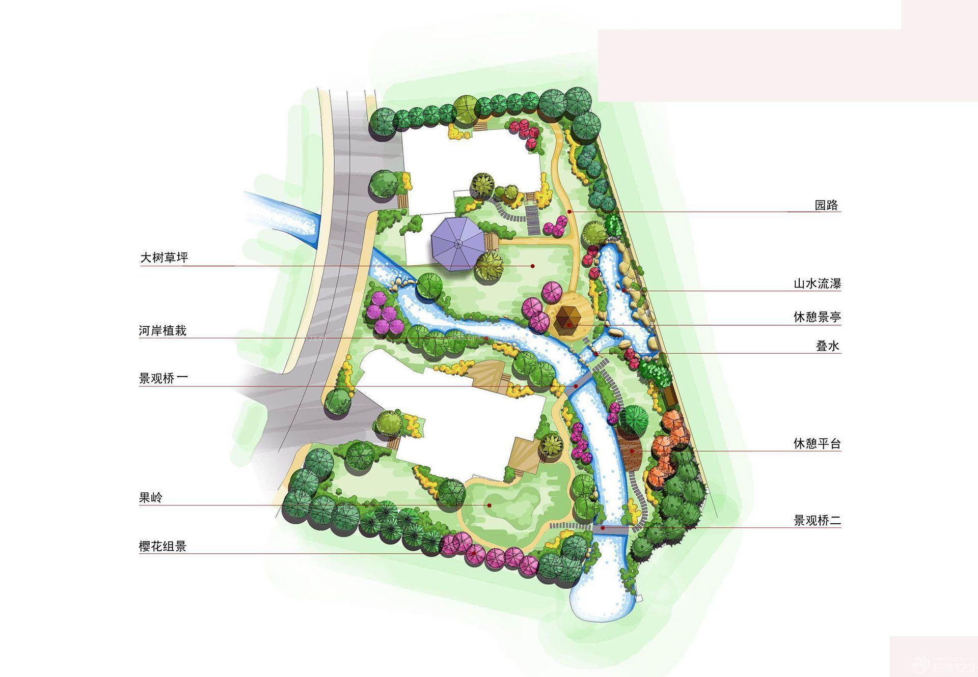 景区景观平面图设计