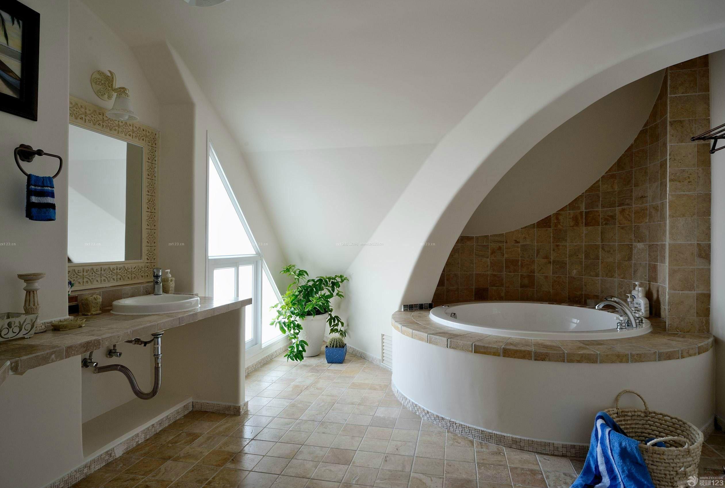 豪华家装创意浴室装修设计图